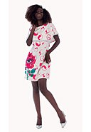 CULITO FROM SPAIN - Kleid Estampado, Kurzarm, Rundhals