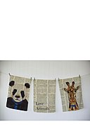 REALLY NICE THINGS - Tablecloth Newspaper animals, B50 x L70 cm