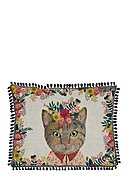 REALLY NICE THINGS - Kissen Floral cat, B50 x L35 cm