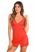 JUST FOR VICTORIA - Lingerie-Set, 2-teilig, rouge