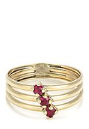 BY COLETTE - Ring Abbie Passion, 375 Gelbgold, Zirkonia