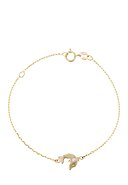 INSTANT D'OR - Armband, 375 Gelbgold, Emaille