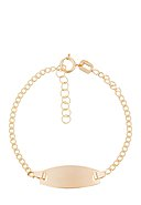INSTANT D'OR - Armband Ovale, 375 Gelbgold