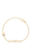 INSTANT D'OR - Armband Gourmette, 375 Gelbgold, Emaille