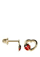INSTANT D'OR - Ohrstecker Coccinelle Amoureuse, 375 Gelbgold