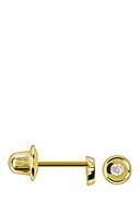 INSTANT D'OR - Ohrstecker Rond, 375 Gelbgold, Zirkonia