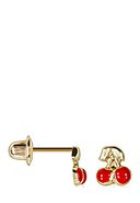INSTANT D'OR - Ohrstecker, 375 Gelbgold, Emaille