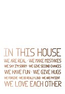 REALLY NICE THINGS - Wandtattoo In This House Rules, B60 x H40 cm