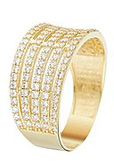 INSTANT D'OR - Ring Multiples, 375 Gelbgold, Zirkonia
